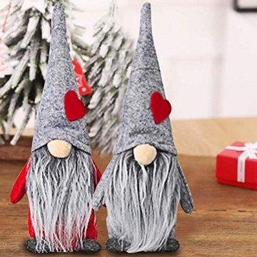 INTVN Santa Dolls Süße Weihnachten,Puppen Figur Schneemann aus Weihnachtsfigur Dwarf,Urlaub Dekoration Geschenke,Plüsch Weihnachtsdeko,Plüsch Schwedische Wichtel - 3