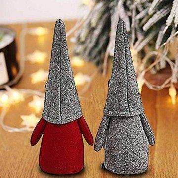 INTVN Santa Dolls Süße Weihnachten,Puppen Figur Schneemann aus Weihnachtsfigur Dwarf,Urlaub Dekoration Geschenke,Plüsch Weihnachtsdeko,Plüsch Schwedische Wichtel - 4