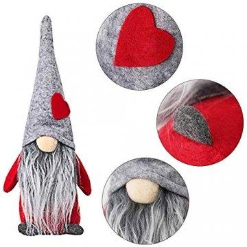 INTVN Santa Dolls Süße Weihnachten,Puppen Figur Schneemann aus Weihnachtsfigur Dwarf,Urlaub Dekoration Geschenke,Plüsch Weihnachtsdeko,Plüsch Schwedische Wichtel - 5
