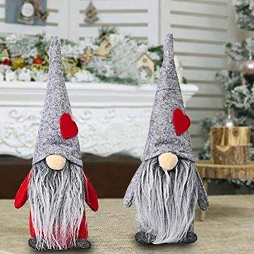 INTVN Santa Dolls Süße Weihnachten,Puppen Figur Schneemann aus Weihnachtsfigur Dwarf,Urlaub Dekoration Geschenke,Plüsch Weihnachtsdeko,Plüsch Schwedische Wichtel - 6