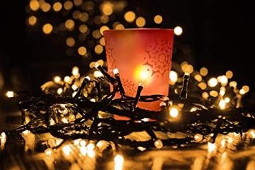 ISO TRADE 1000 LED Lichterkette Weihnachtsbeleuchtung Innen/Außen 11512, Farbe:Warmweiß - 4
