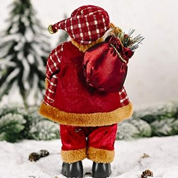 JOAN Weihnachtsmann-Figur, stehend, hohe Details, lebensechte Weihnachtsmannpuppe, Heimdekoration, 30 cm - 6