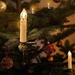Kerzen Lichterkette, THOWALL 12M 30er LED Weihnachtsbaum Lichterkette mit Klemmen, Flammenloses LED Kerzen Dekoration für Weihnachtsbaum, Weihnachtsdeko, Hochzeit, Geburtstags, Party, Warmweiß - 1
