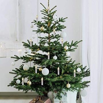 Kerzen Lichterkette, THOWALL 12M 30er LED Weihnachtsbaum Lichterkette mit Klemmen, Flammenloses LED Kerzen Dekoration für Weihnachtsbaum, Weihnachtsdeko, Hochzeit, Geburtstags, Party, Warmweiß - 5