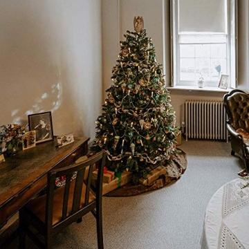 Kerzen Lichterkette, THOWALL 12M 30er LED Weihnachtsbaum Lichterkette mit Klemmen, Flammenloses LED Kerzen Dekoration für Weihnachtsbaum, Weihnachtsdeko, Hochzeit, Geburtstags, Party, Warmweiß - 6