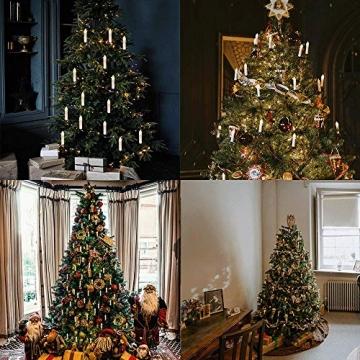 Kerzen Lichterkette, THOWALL 12M 30er LED Weihnachtsbaum Lichterkette mit Klemmen, Flammenloses LED Kerzen Dekoration für Weihnachtsbaum, Weihnachtsdeko, Hochzeit, Geburtstags, Party, Warmweiß - 7