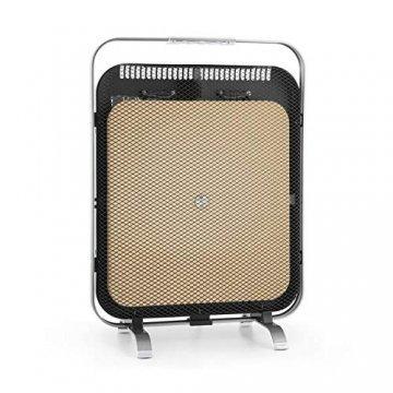 Klarstein HeatPal Marble Blackline Infrarot-Heizung mit Thermostat - mobiles Heizgerät, Standheizgerät, 1300 Watt, Räume bis 30 m², Wärmespeicherfunktion, Marmorplatte, Aluminium, silber - 1