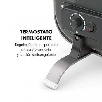 Klarstein HeatPal Marble Blackline Infrarot-Heizung mit Thermostat - mobiles Heizgerät, Standheizgerät, 1300 Watt, Räume bis 30 m², Wärmespeicherfunktion, Marmorplatte, Aluminium, silber - 7