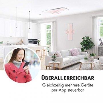 Klarstein Wonderwall Smart - Infrarot-Heizung - Wandheizung, Heizgerät, WiFi, Thermostat, Wochentimer, Abschaltfunktion, Allergiker-geeignet, antikweiß, 30x100cm, 300W - 3