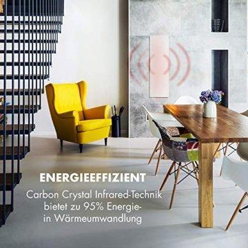 Klarstein Wonderwall Smart - Infrarot-Heizung - Wandheizung, Heizgerät, WiFi, Thermostat, Wochentimer, Abschaltfunktion, Allergiker-geeignet, antikweiß, 30x100cm, 300W - 4