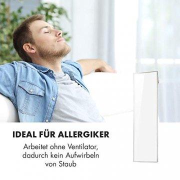 Klarstein Wonderwall Smart - Infrarot-Heizung - Wandheizung, Heizgerät, WiFi, Thermostat, Wochentimer, Abschaltfunktion, Allergiker-geeignet, antikweiß, 30x100cm, 300W - 7