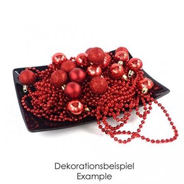 kleine Minni Dekokugeln Weihnachten Weihnachtskugeln Kugeln rot matt glänzend glitzernd 24 Stück 3,3cm rot - 5