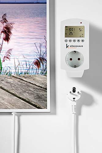 Könighaus Fern Infrarotheizung - Bildheizung in HD Qualität mit TÜV/GS - 200+ Bilder – mit Smart Home Thermostat, steuerbar mit APP für Handy- 1000 Watt (42. Steg) - 2