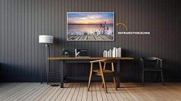 Könighaus Fern Infrarotheizung - Bildheizung in HD Qualität mit TÜV/GS - 200+ Bilder – mit Smart Home Thermostat, steuerbar mit APP für Handy- 1000 Watt (42. Steg) - 3