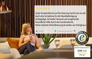 Könighaus Fern Infrarotheizung - Bildheizung in HD Qualität mit TÜV/GS - 200+ Bilder – mit Smart Home Thermostat, steuerbar mit APP für Handy- 1000 Watt (42. Steg) - 7