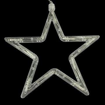 Kompassswc LED Fensterlicht Stern Form Fensterbild Saugnapf led Fenstersilhouette batteriebetrieben Weihnachtsbeleuchtung Weihnachten Dekoration Licht für Kinderzimmer Schaufenster Party (2 Stück) - 6