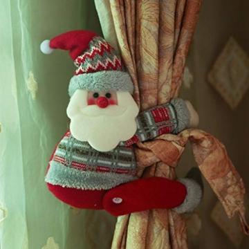 Koojawind Weihnachten Weihnachtsmann Puppe Vorhang Schnalle Fenster Party Dekor Geschenk Zuhause, Vorhang Raffhalter, Dekorative Vorhang Holdbacks FüR Fenster Sheer Und Blackout Panel - 2