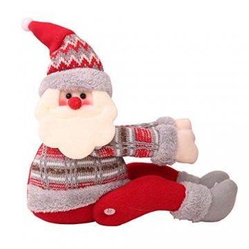 Koojawind Weihnachten Weihnachtsmann Puppe Vorhang Schnalle Fenster Party Dekor Geschenk Zuhause, Vorhang Raffhalter, Dekorative Vorhang Holdbacks FüR Fenster Sheer Und Blackout Panel - 1
