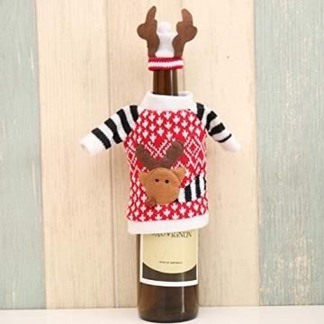 Koowaa Elk Wine Bottle Cover Weihnachtsweinflasche Deko-Etui Weihnachtsdekoration Weihnachtstischdekoration - 7