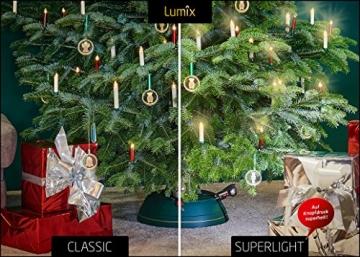 Krinner Lumix Elfenbein LUMIX Superlight, kabellose Power LED Christbaumkerzen 10er Basis-Set (In-& Outdoor IP44), ABS Kunststoff, 1.7 x 1.7 x 12.5 cm, 74422 - 2