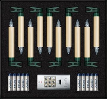 Krinner Lumix Elfenbein LUMIX Superlight, kabellose Power LED Christbaumkerzen 10er Basis-Set (In-& Outdoor IP44), ABS Kunststoff, 1.7 x 1.7 x 12.5 cm, 74422 - 3