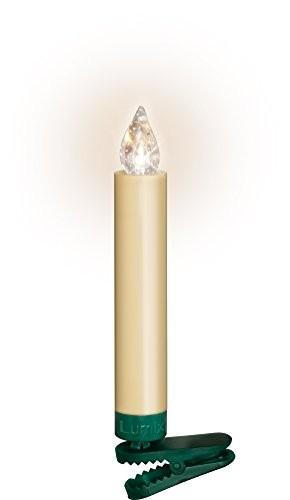 Krinner Lumix Elfenbein LUMIX Superlight, kabellose Power LED Christbaumkerzen 10er Basis-Set (In-& Outdoor IP44), ABS Kunststoff, 1.7 x 1.7 x 12.5 cm, 74422 - 6