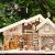 Krippenstall Weihnachtskrippe + Zubehör, NEU MIT BRUNNEN + Holzdeko + Tierfiguren + Stall KS70na-MF-SKR mit hochwertigen PREMIUM - 2