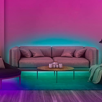 Ksipze LED Strip 10m RGB LED Lichterkette Streifen Lichtband mit Fernbedienung Farbwechsel Hell 5050 LED Band Leiste Lichterketten Klebeband Selbstklebende für Zuhause, Schrank Schlafzimmer(2 * 5M) - 2