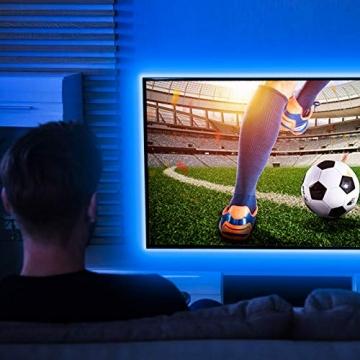 Ksipze LED Strip 10m RGB LED Lichterkette Streifen Lichtband mit Fernbedienung Farbwechsel Hell 5050 LED Band Leiste Lichterketten Klebeband Selbstklebende für Zuhause, Schrank Schlafzimmer(2 * 5M) - 5