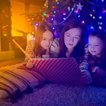 Ksipze LED Strip 10m RGB LED Lichterkette Streifen Lichtband mit Fernbedienung Farbwechsel Hell 5050 LED Band Leiste Lichterketten Klebeband Selbstklebende für Zuhause, Schrank Schlafzimmer(2 * 5M) - 6