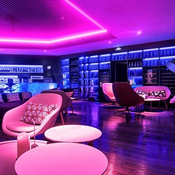 Ksipze LED Strip 15m RGB LED Lichterkette Streifen Licht mit Fernbedienung Beleuchtung Leiste Band für Schrankdeko, Party, Zuhause, Schlafzimmer, Farbwechsel - 2