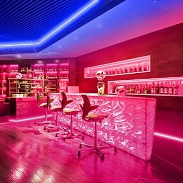 Ksipze LED Strip 15m RGB LED Lichterkette Streifen Licht mit Fernbedienung Beleuchtung Leiste Band für Schrankdeko, Party, Zuhause, Schlafzimmer, Farbwechsel - 3