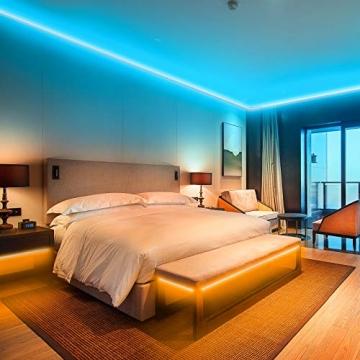 Ksipze LED Strip 15m RGB LED Lichterkette Streifen Licht mit Fernbedienung Beleuchtung Leiste Band für Schrankdeko, Party, Zuhause, Schlafzimmer, Farbwechsel - 4