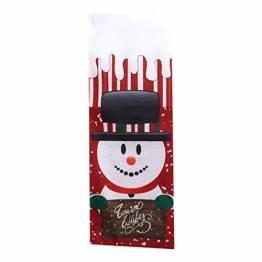 L_shop Weihnachten Weinflaschenbezug Weihnachtsmann Schneemann Elchmuster Weinbeutel Weihnachtstischdekoration Beutel, Schneemann - 1