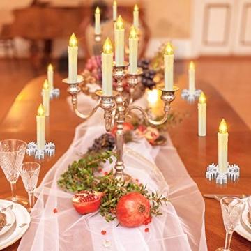 LED kerzen Weihnachtskerzen mit Fernbedienung Timer AAA-Batterien Dimmbar, Christbaumkerzen Kabellose Weihnachtsbaumkerzen für Weihnachtsbaum Weihnachtsdeko Hochzeit(30er) - 4