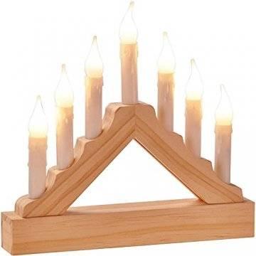 LED Lichterbogen mit 7 Kerzen Holz,Weihnachtsdeko,Fensterdeko,Weihnachten, (l) 22 x (b) 3.5 x (h) 21 CM - 1