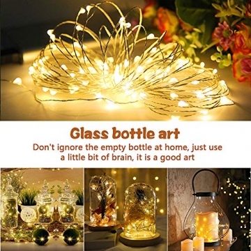 LED Lichterkette, 20m 200LED Lichterketten Lichter Lichterschlauch, wasserdicht 8 Modi Fernbedienung Außen Innen für Weihnachtsbeleuchtung Festliche Hochzeit Schlafzimmer Dekorationen (clear1) - 6