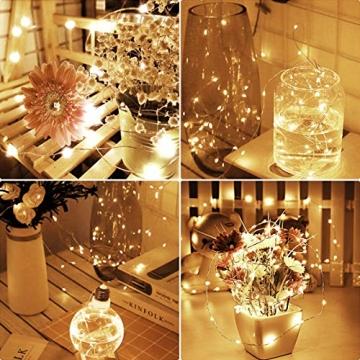 LED Lichterkette,Cshare 3m LED Draht Micro Lichterkette,Micro 30 LEDs Lichterkette AA Batterie betrieb für Party, Garten, Weihnachten, Halloween, Hochzeit, Beleuchtung, Zimmer (Warmweiß) - 5
