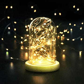 LED Lichterkette,Cshare 3m LED Draht Micro Lichterkette,Micro 30 LEDs Lichterkette AA Batterie betrieb für Party, Garten, Weihnachten, Halloween, Hochzeit, Beleuchtung, Zimmer (Warmweiß) - 6