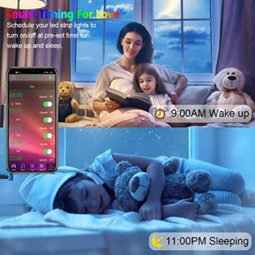LED Strip, L8star LED Streifen Farbwechsel Led Lichterkette 5M RGB Flexible LED Bänder Strips mit Bluetooth Kontroller Sync zur Musik, Anwendung für Schlafzimmer (5M) - 5