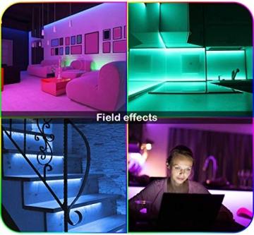 LED Strip, L8star LED Streifen Farbwechsel Led Lichterkette 5M RGB Flexible LED Bänder Strips mit Bluetooth Kontroller Sync zur Musik, Anwendung für Schlafzimmer (5M) - 7