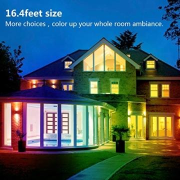 LED Strip, L8star LED Streifen Farbwechsel LED Strip Lichtband RGB Flexible LED Bänder Strips mit Bluetooth Kontroller Sync zur Musik, Anwendung für Schlafzimmer, Party und Feriendekoration - 2