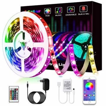 LED Strip, L8star LED Streifen Farbwechsel LED Strip Lichtband RGB Flexible LED Bänder Strips mit Bluetooth Kontroller Sync zur Musik, Anwendung für Schlafzimmer, Party und Feriendekoration - 1