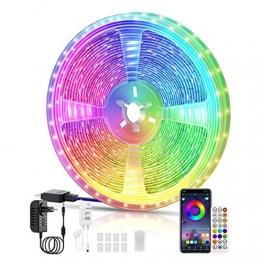 LED Strips 10M, RGB Smart LED Streifen Farbwechsel LED Band, Musik Sync LED Lichterkette mit Fernbedienung und App-steuerung, für Leiste, Zuhause, Schlafzimmer, Küche, Party - 1