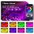 LED Strips 10M, RGB Smart LED Streifen Farbwechsel LED Band, Musik Sync LED Lichterkette mit Fernbedienung und App-steuerung, für Leiste, Zuhause, Schlafzimmer, Küche, Party - 4
