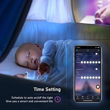 LED Strips 10M, RGB Smart LED Streifen Farbwechsel LED Band, Musik Sync LED Lichterkette mit Fernbedienung und App-steuerung, für Leiste, Zuhause, Schlafzimmer, Küche, Party - 7