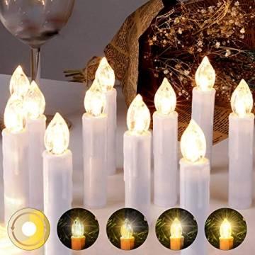 LED Weihnachtskerzen Kabellos Kerzen Weihnachtsbaumkerzen Christbaumkerzen mit Fernbedienung Timer Kerzenlichter - 1