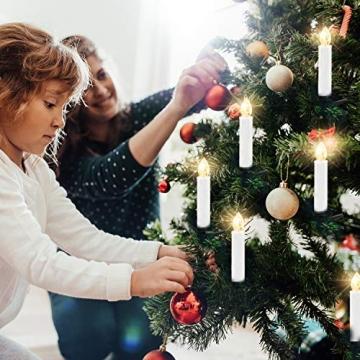 LED Weihnachtskerzen Kabellos Kerzen Weihnachtsbaumkerzen Christbaumkerzen mit Fernbedienung Timer Kerzenlichter - 7