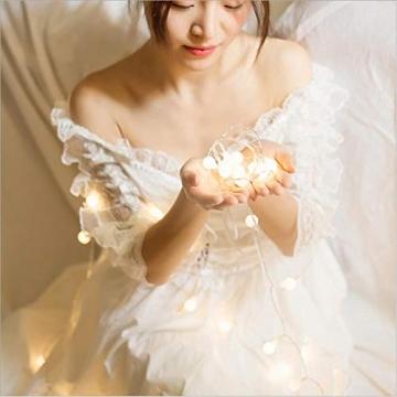 Leds Globe Lichterkette, Partybeleuchtung Außen,Warmweiße Kugel Lichterkette, Ideal Weihnachtsbeleuchtung für Innen, Zimmer,IP65 (Warm White, 3m/ 20 Lichter/Batteries) - 3