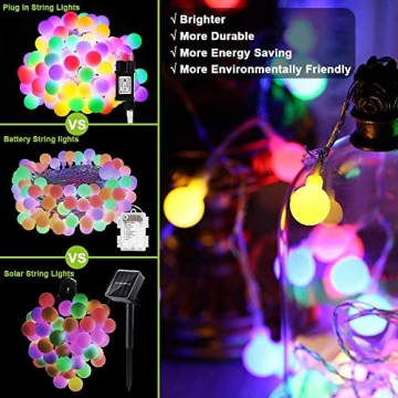 Leds Globe Lichterkette, Partybeleuchtung Außen,Warmweiße Kugel Lichterkette, Ideal Weihnachtsbeleuchtung für Innen, Zimmer,IP65 (Warm White, 3m/ 20 Lichter/Batteries) - 7